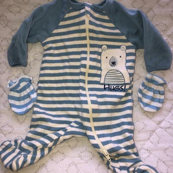 Reversed Zipper Footed Pajamas
